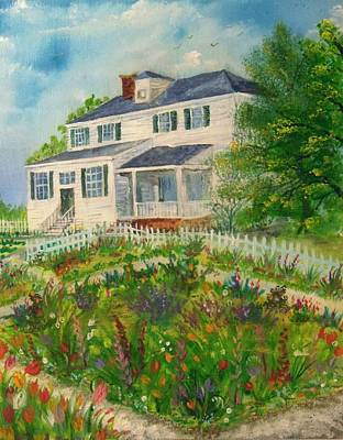 Spring In Colonial Williamsburg- Cole House Poster
