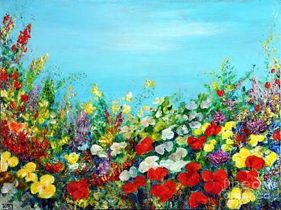 Spring In The Garden Poster by Teresa Wegrzyn