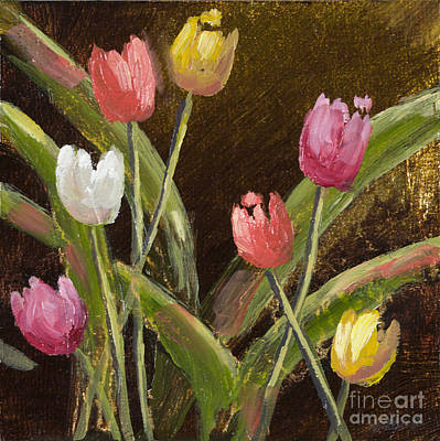 Spring Is Around The Corner With Gold Leaf By Vic Mastis Poster