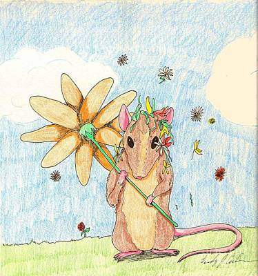 Spring Mouse Poster by Wendy Coulson