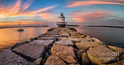 Spring Point Ledge Light Panorama Poster