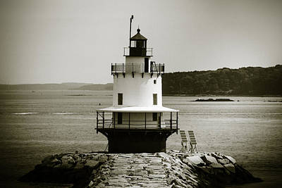 Spring Point Ledge Lighthouse  2 Poster by Sherry Boylan