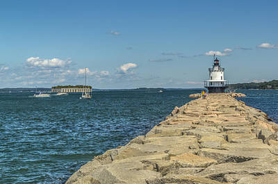 Poster featuring the photograph Spring Point Ledge Lighthouse by Jane Luxton