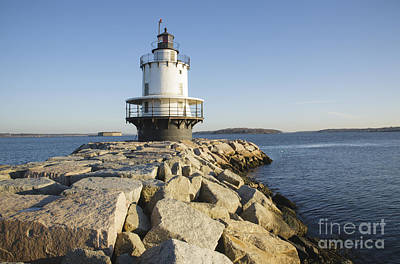Spring Point Ledge Lighthouse - South Portland Maine Poster by Erin Paul Donovan