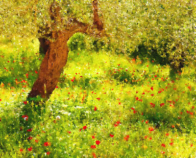 Spring Poppies Impressionism Poster