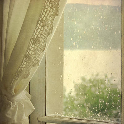 Poster featuring the photograph Spring Rain by Sally Banfill