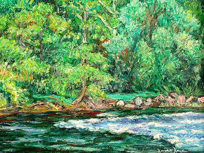 Spring Rapids On The New River Poster by Kendall Kessler