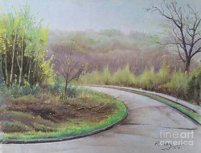Poster featuring the painting Spring Road by Rose Wang