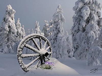 Spring Snowfall Poster