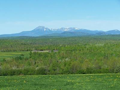 Poster featuring the photograph Spring Time Katahdin by Gene Cyr
