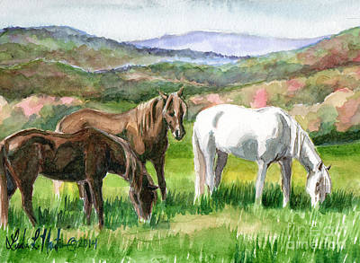 Poster featuring the painting Spring Valley by Linda L Martin