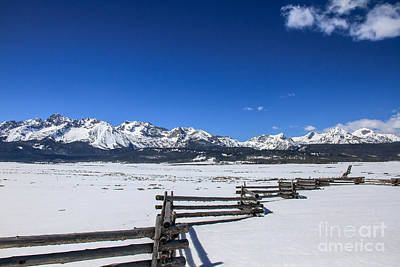 Spring View Of The Sawtooth Mountains Poster by Robert Bales