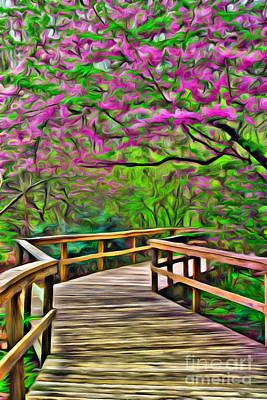 Spring Walk - Paint Rendering Poster