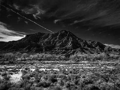 Springdale Utah 002 Bw Poster by Lance Vaughn