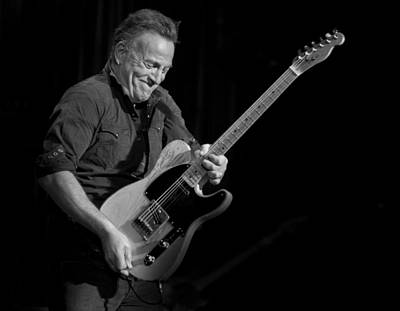 Springsteen Shreds Bw Poster by Jeff Ross