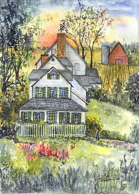 Springtime Down On The Farm Poster by Carol Wisniewski