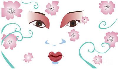 Springtime Geisha Poster