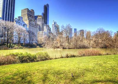 Springtime In Central Park Poster by Vicki Jauron