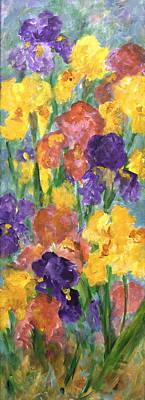 Springtime Iris Poster