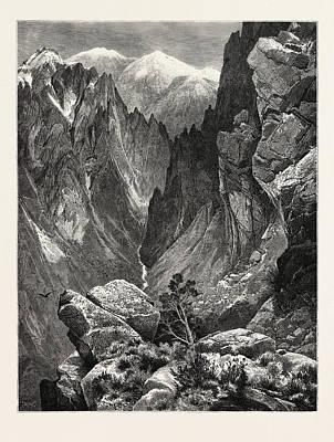 Springville Canyon. Thomas Moran February 12 Poster