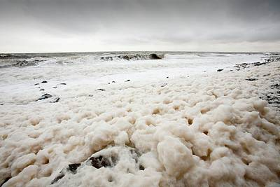 Spume From Storm Waves Poster by Ashley Cooper