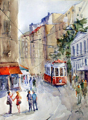 Square Tunel - Beyoglu Istanbul Poster