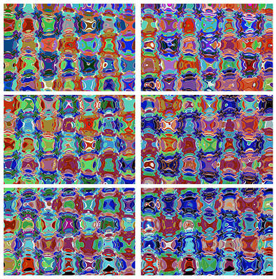 squared graphics  Pattern Micro Images created by NavinJoshi Artist Characters faces eyes cartoons p Poster