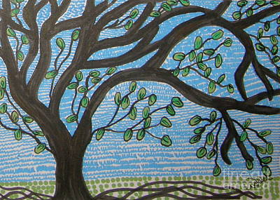 Squiggly Tree Poster by Marcia Weller-Wenbert