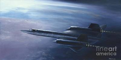 Poster featuring the painting Sr-71 by Stephen Roberson
