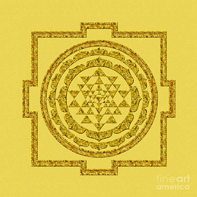 Sri Yantra In Gold Poster