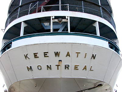 S.s. Keewatin Stern Poster by Michelle Calkins