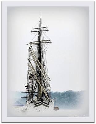 Ss Sorlandet Norwegian Tallship Poster by Danielle  Parent