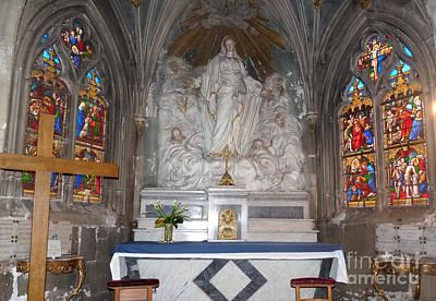 Poster featuring the photograph St. Aignan Church Altar by Deborah Smolinske