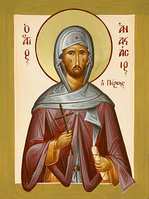 St Anastasios The Persian Poster by Julia Bridget Hayes