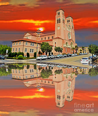St Anne Church Of The Sunset In San Francisco With A Reflection  Poster by Jim Fitzpatrick