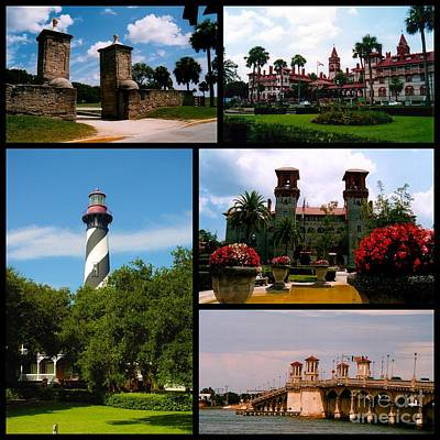 St Augustine In Florida - 2 Collage Poster by Susanne Van Hulst
