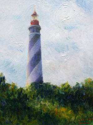 St. Augustine Light Poster by Herschel Pollard
