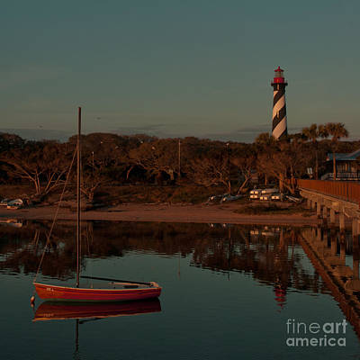St. Augustine Lighthouse Beach Early Morning Color Poster