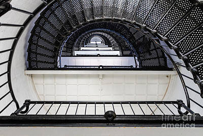 St. Augustine Lighthouse Staircase St. Augustine Florida Poster by Dawna  Moore Photography