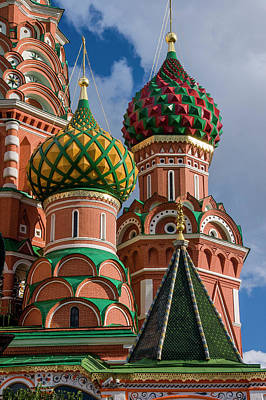 St Basil's Cathedral Red Square Unesco Poster by Tom Norring