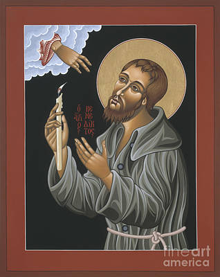 Poster featuring the painting St. Benedict Joseph Labre 062 by William Hart McNichols