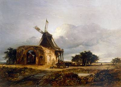St Benets Abbey And Mill, Norfolk, 1833 Poster by William James Muller