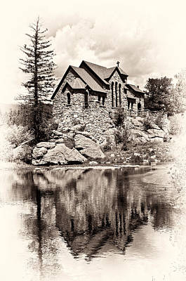 St. Catherine's Chapel Poster by Tyson and Kathy Smith