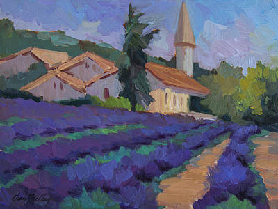 St. Columne Lavender Field Poster by Diane McClary