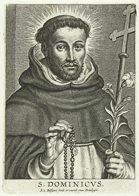 St. Dominic With Rosary And Lily Poster