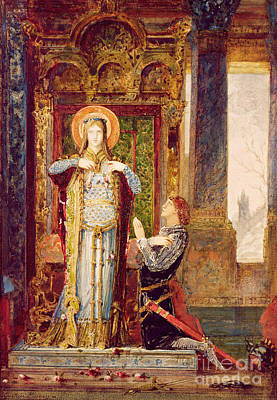 St Elisabeth Of Hungary Or The Miracle Of The Roses Poster by Gustave Moreau