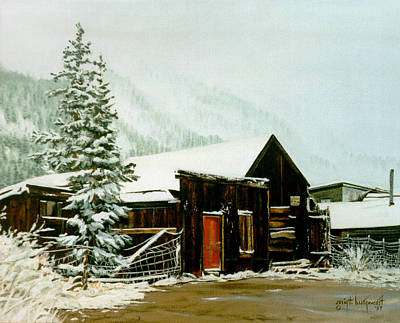 Poster featuring the painting St Elmo Snow by Craig T Burgwardt