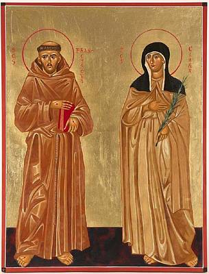 St. Francis Of Assisi And St. Clare Poster by Joseph Malham