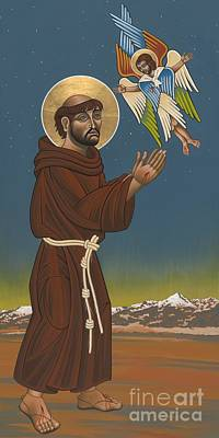 Poster featuring the painting St. Francis Patron Of Colorado 186 by William Hart McNichols