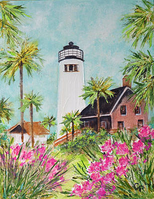 St. George Island's Lighthouse Poster by Carla Parris